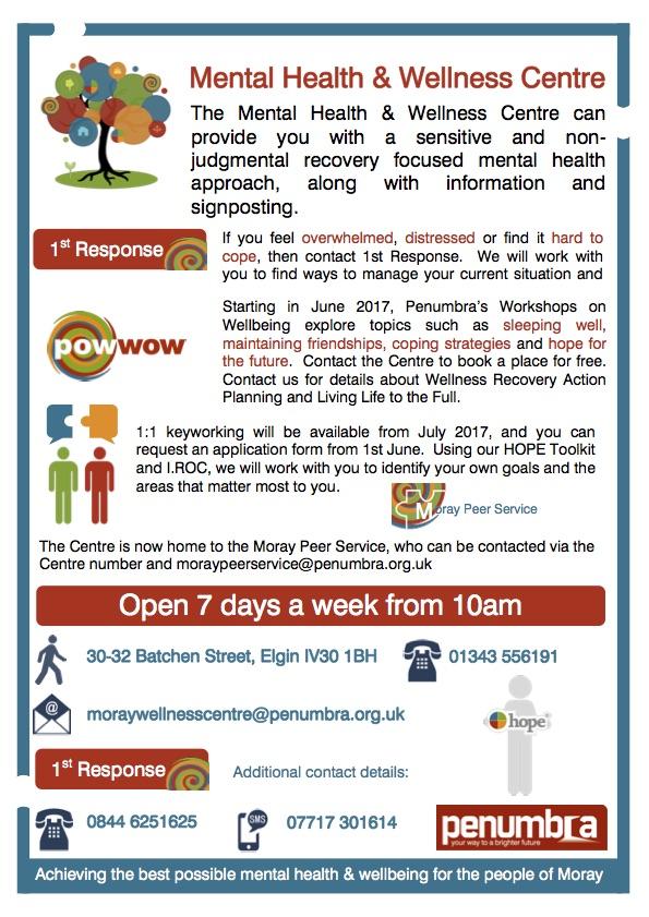 Mental Health Wellbeing Centre - Elgin